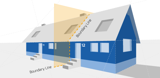 Party Wall illustration for Sheringham Surveyors